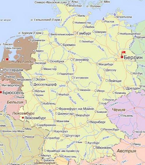 Туры в германию карта германии